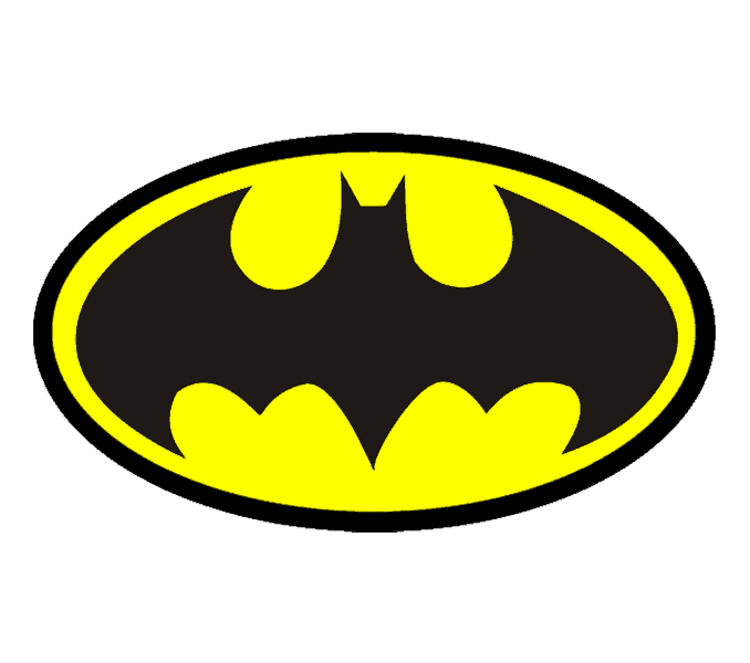 How to Draw Batman Logo: Step 13