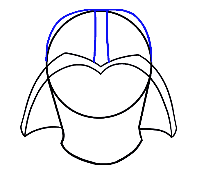 How to Draw Dart Vader: Step 8