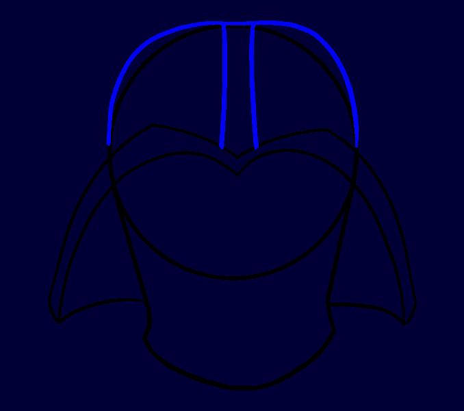 Cómo dibujar Dart Vader: Paso 8