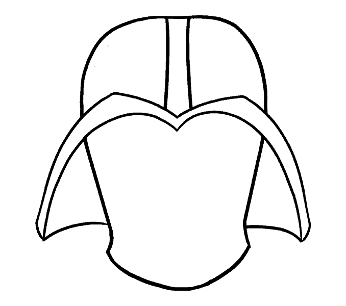 How to draw darth vader step: 9
