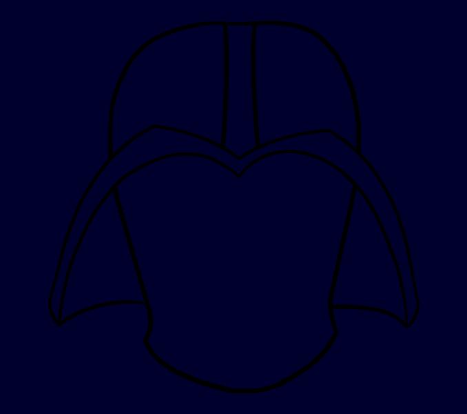 Cómo dibujar Dart Vader: Paso 9
