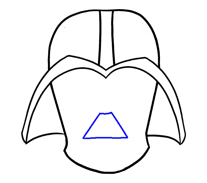 How to Draw Dart Vader: Step 10
