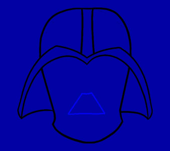 Cómo dibujar Dart Vader: Paso 10