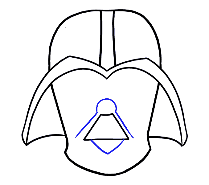 How to Draw Dart Vader: Step 11