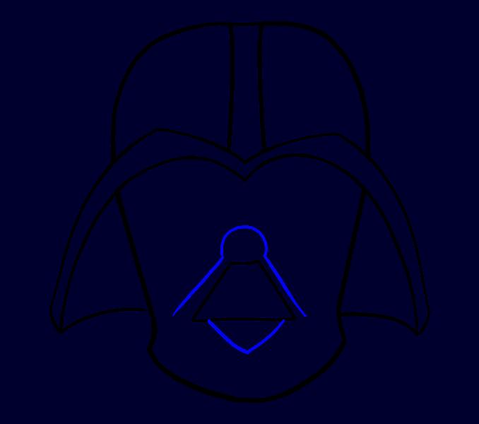 Cómo dibujar Dart Vader: Paso 11