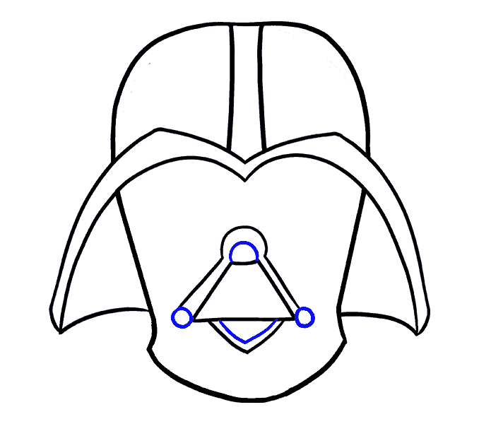 How to Draw Dart Vader: Step 12