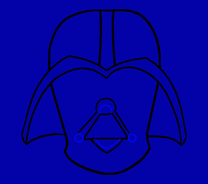 Cómo dibujar Dart Vader: Paso 12