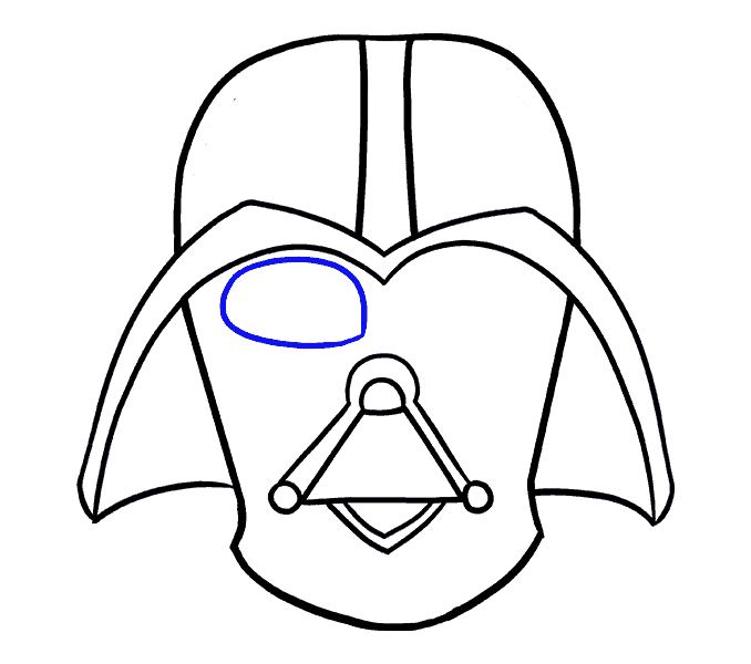 How to Draw Dart Vader: Step 13