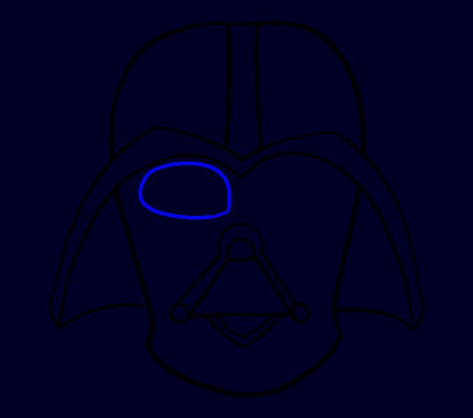 Cómo dibujar Dart Vader: Paso 13