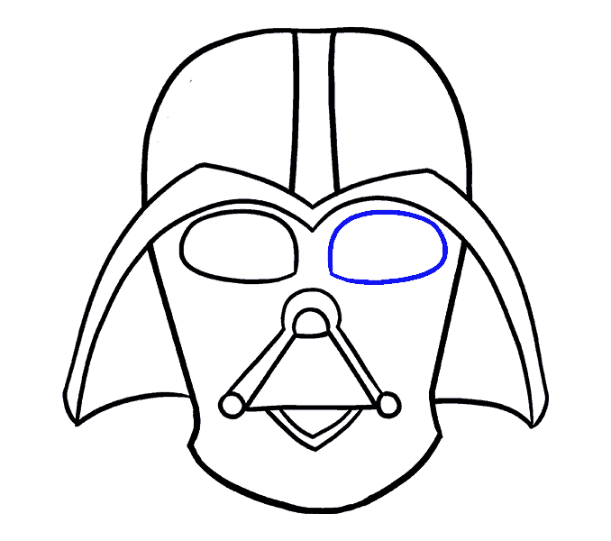How to Draw Dart Vader: Step 14
