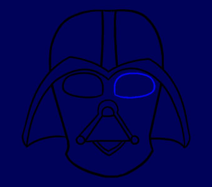 Cómo dibujar Dart Vader: Paso 14