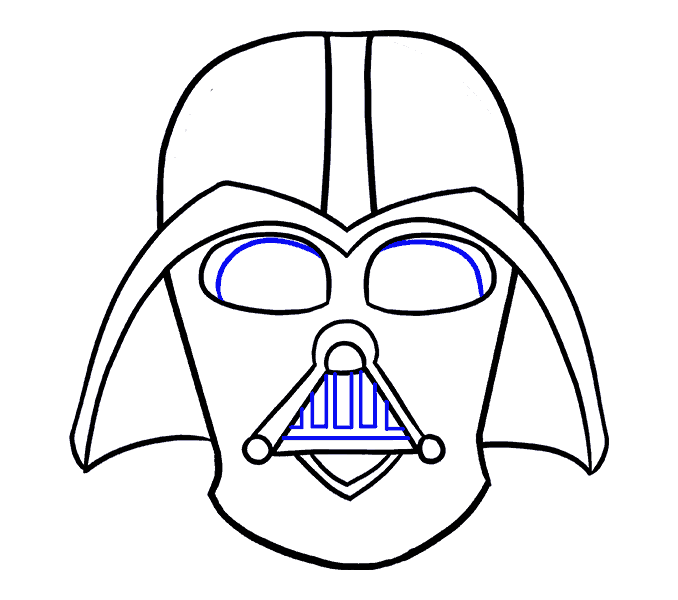 How to Draw Dart Vader: Step 15
