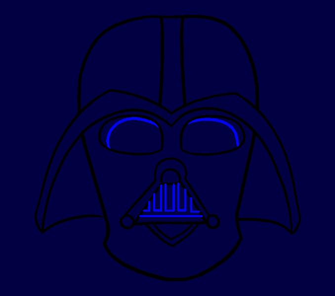 Cómo dibujar Dart Vader: Paso 15