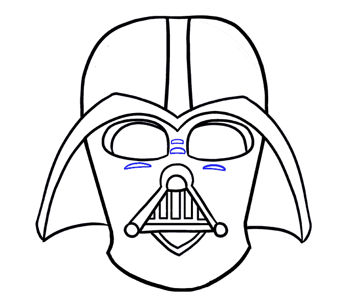 How to Draw Dart Vader: Step 16