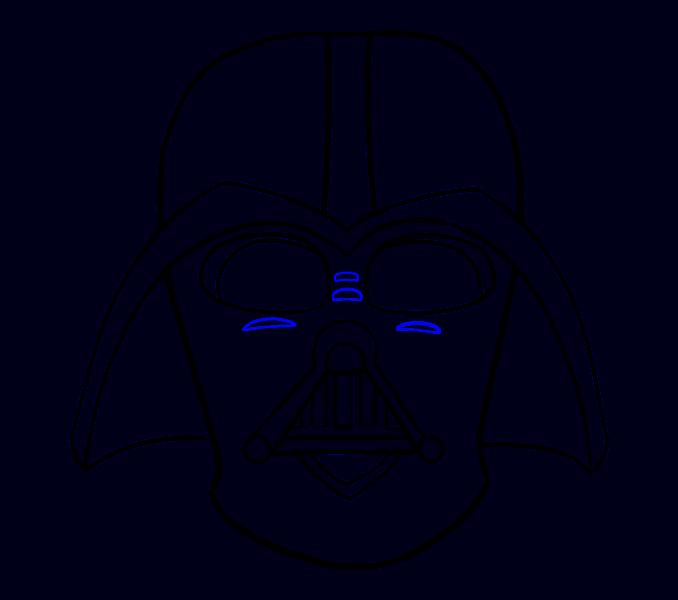 Cómo dibujar Dart Vader: Paso 16