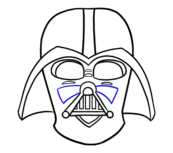 How to Draw Dart Vader: Step 17