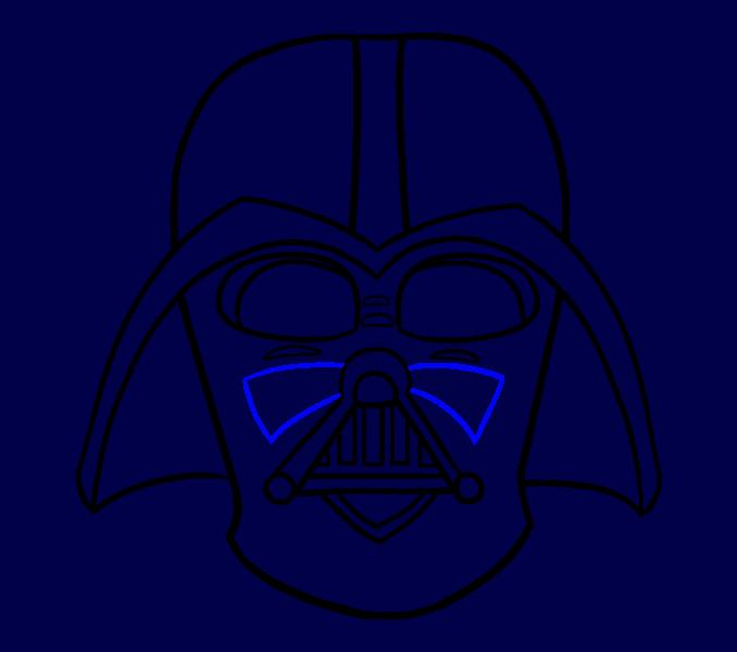 Cómo dibujar Dart Vader: Paso 17
