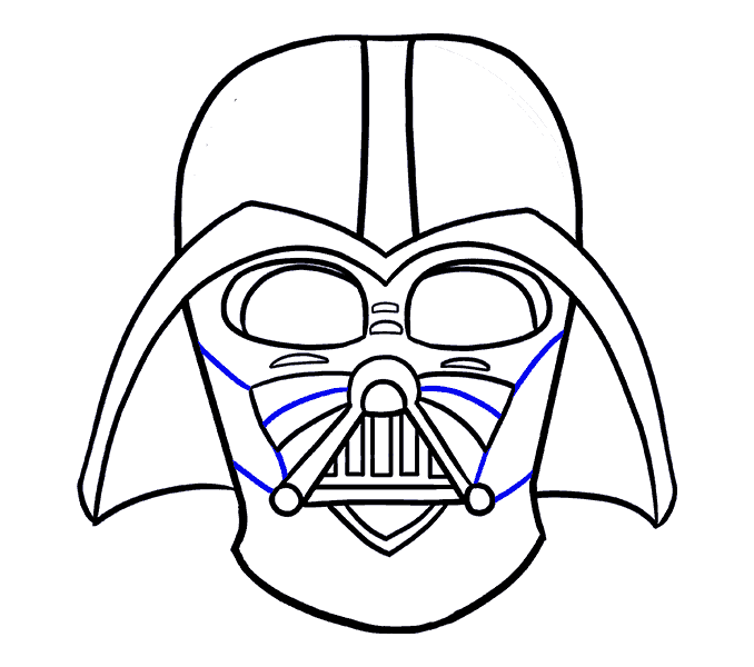 How to Draw Dart Vader: Step 18