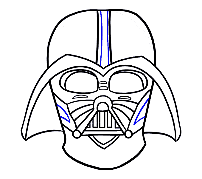How to Draw Dart Vader: Step 19