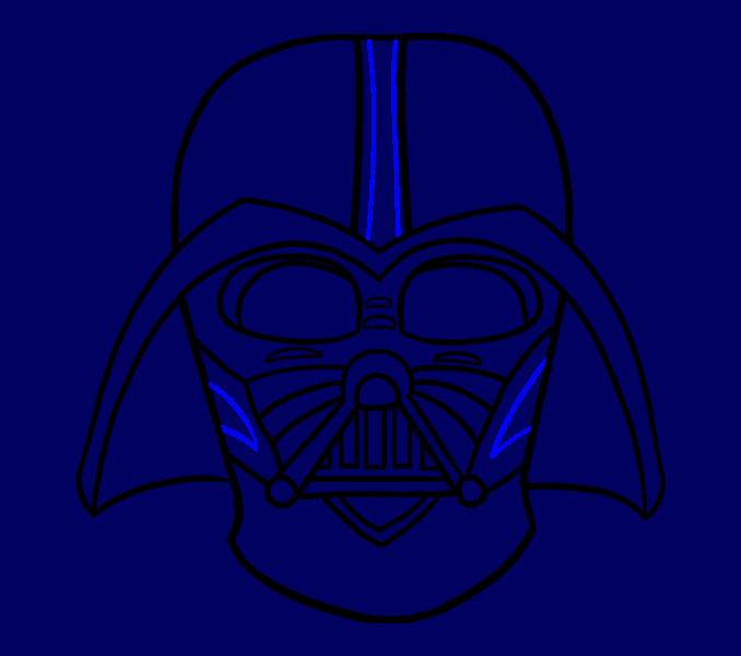 Cómo dibujar Dart Vader: Paso 19