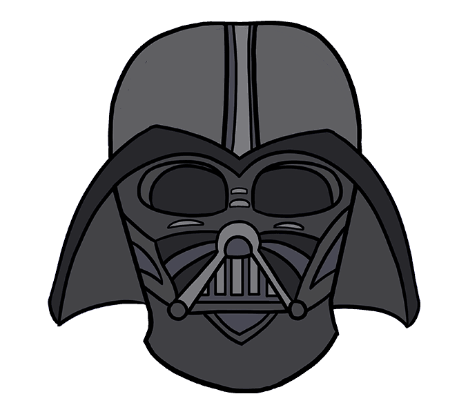 How to Draw Dart Vader: Step 20