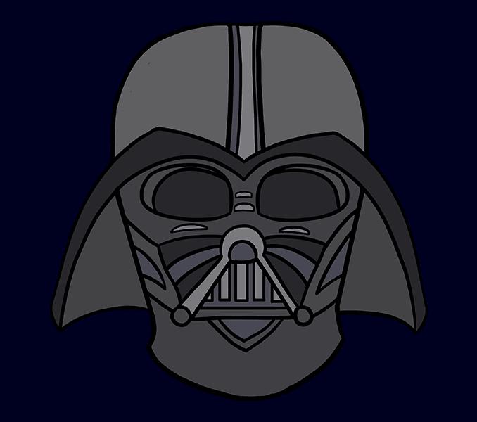 Cómo dibujar Dart Vader: Paso 20