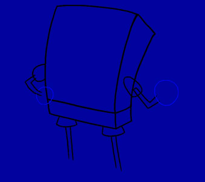 How to draw Spongebob Step: 7