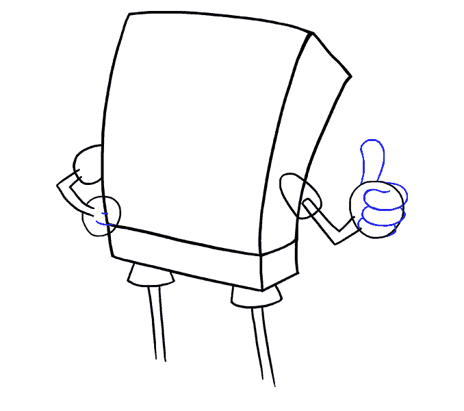 How to Draw Spongebob: Step 8