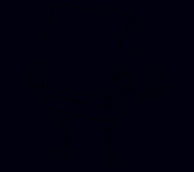 How to draw Spongebob Step: 13