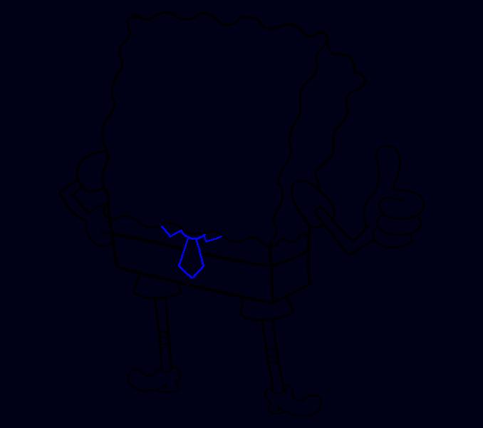 How to draw Spongebob Step: 14