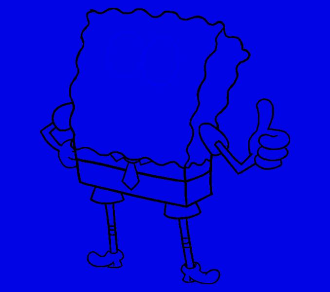 How to draw Spongebob Step: 15