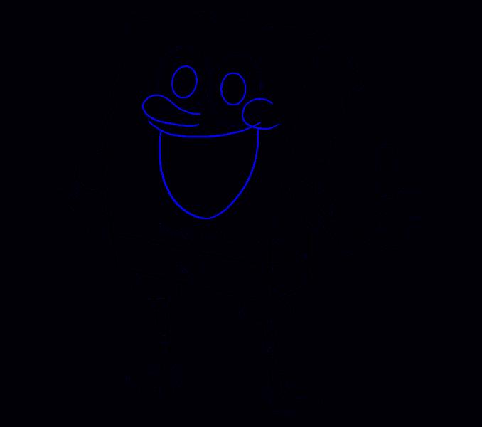How to draw Spongebob Step: 16