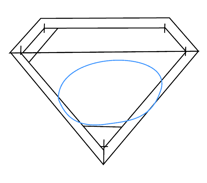 How to Draw Superman Logo: Step 6