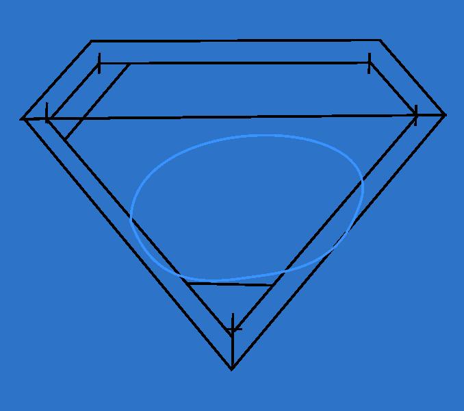 How to draw superman logo Step: 6