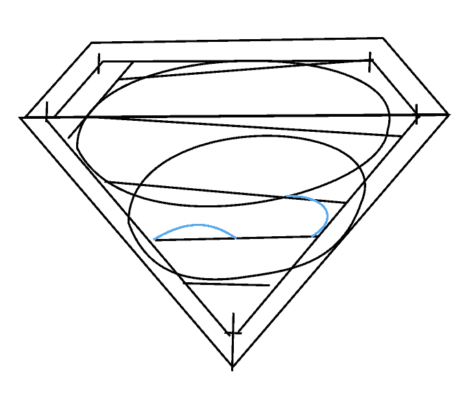 How to Draw Superman Logo: Step 9