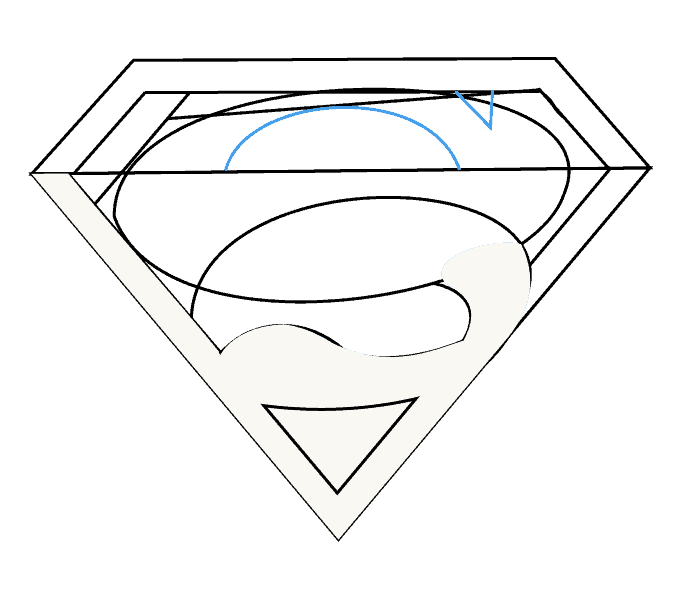 How to draw superman logo Step: 10