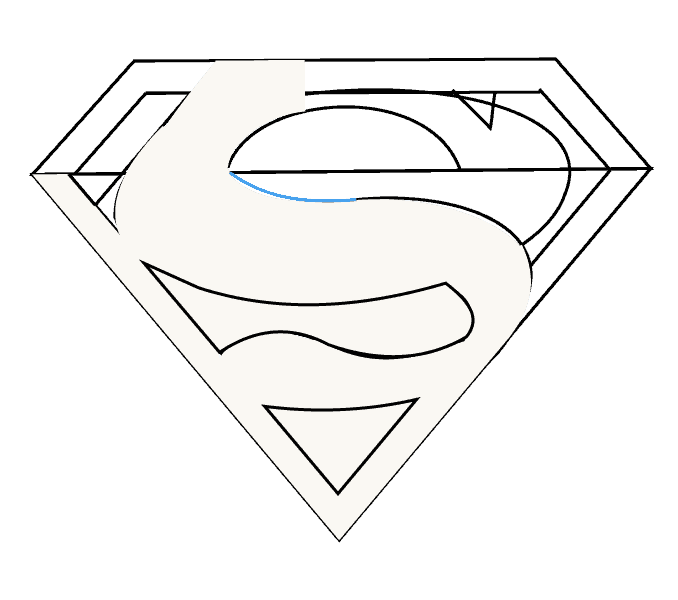 How to Draw Superman Logo: Step 11