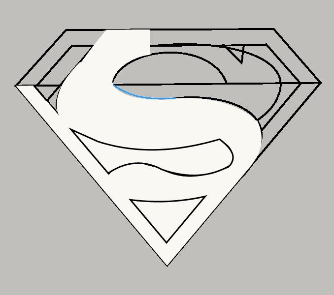 How to draw superman logo Step: 11
