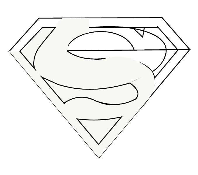 How to Draw Superman Logo: Step 12