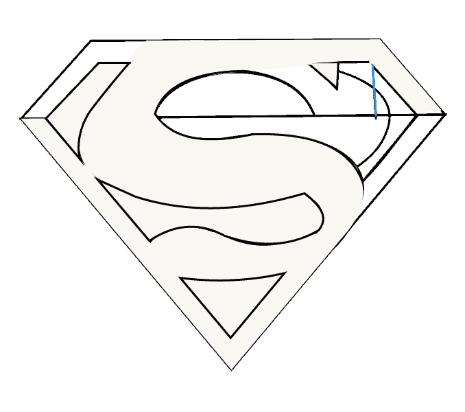 How to Draw Superman Logo: Step 13