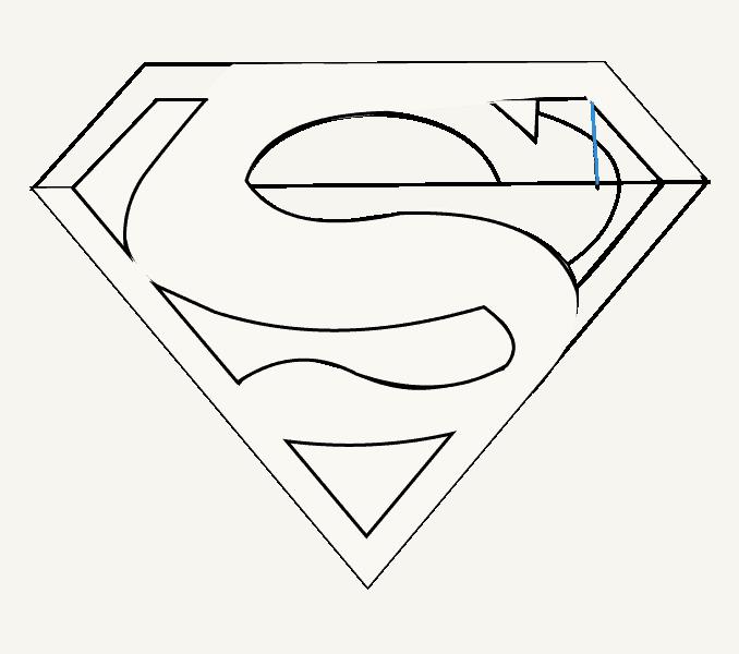 How to draw superman logo Step: 13