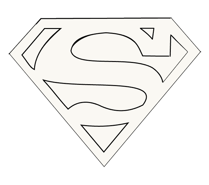 How to Draw Superman Logo: Step 15
