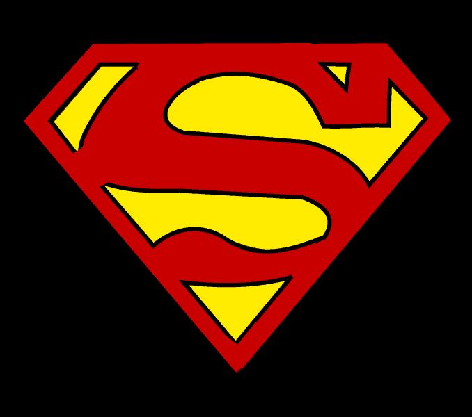 How to draw superman logo Step: 16