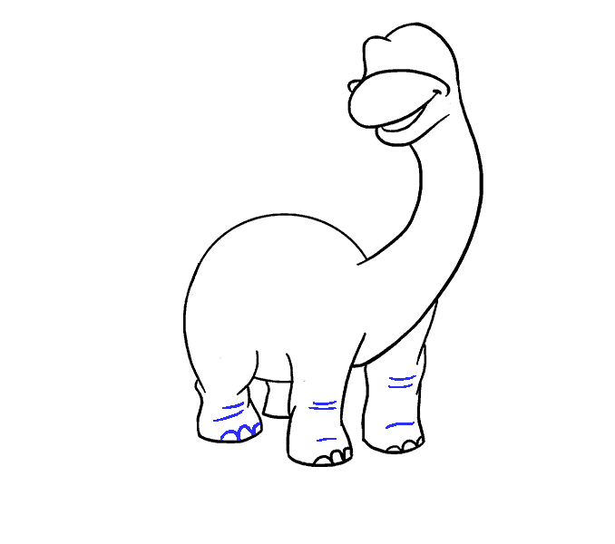 How to Draw Dinosaur: Step 13