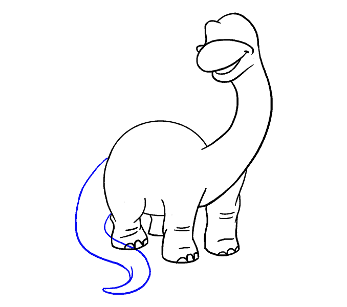 How to Draw Dinosaur: Step 14