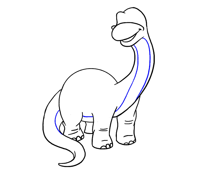 How to Draw Dinosaur: Step 16