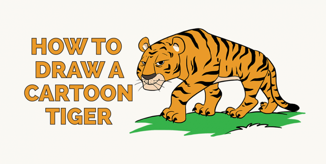 How to Draw a Cartoon Tiger: Featured image
