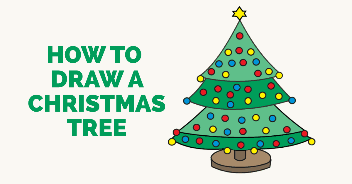 Easy To Draw Christmas Tree.How To Draw A Christmas Tree Easy Step By Step Drawing Guides