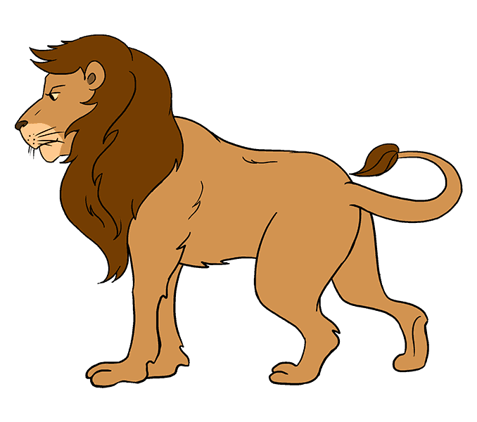 How to Draw Lion: Step 20