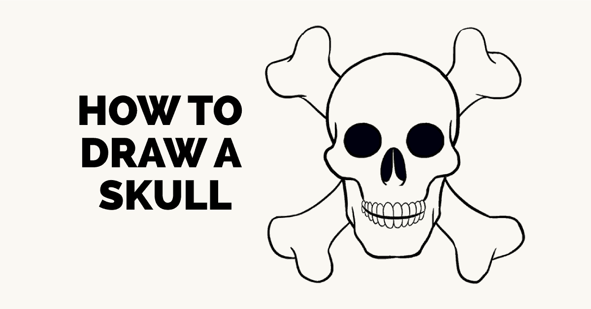 How To Draw A Skull Step By Step Tutorial Easy Drawing Guides